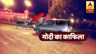 When bull-fight STOPPED PM Modi's convoy - ABPNEWSTV