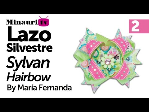 DIY - Lazo Silvestre by María Fernanda 2/2 ( How-to make ¨Silvestre¨ hair bow )