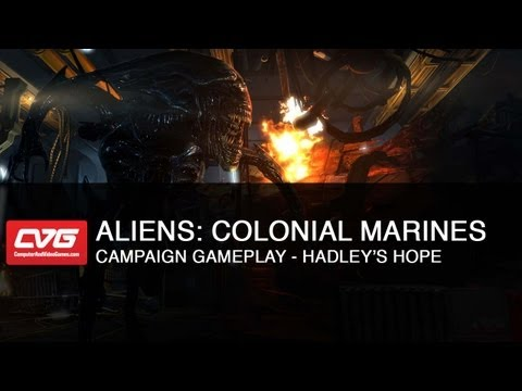 Aliens: Colonial Marines Campaign Gameplay