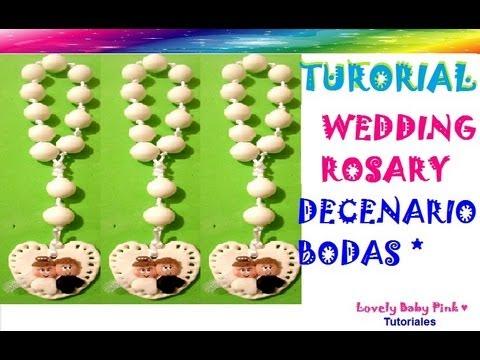 Decenario pasta flexible paso a paso / Wedding Rosary cold porcelain / polymer clay