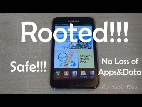 How to Root the Galaxy Note (Latest & Safest) (N7000 - ICS Only) - Cursed4Eva