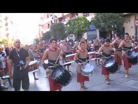 Tambores Almassora en moros y cristianos de Ontinyent 2012