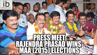 Rajendra Prasad wins MAA (2015) elections press meet - idlebrain.com - IDLEBRAINLIVE