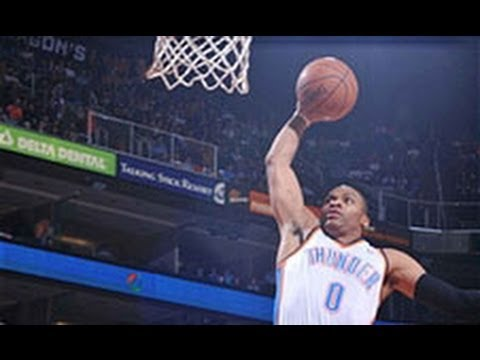 Russell Westbrook Opens the Game With a Steal and Slam