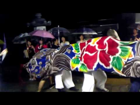 2013年 石川県志賀町高浜町 【小濱神社秋季祭礼】 獅子舞(青年団編)