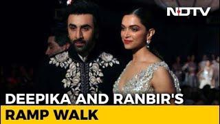 Deepika Padukone And Ranbir Kapoor Add Stardust To Mijwan Fashion Show - NDTV