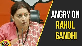 Smriti Irani Angry on Rahul Gandhi over National Herald Case | BJP Vs Congress Updates | Mango News - MANGONEWS