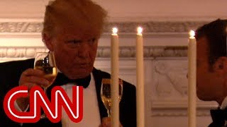 Hear Trump's toast to President Macron - CNN