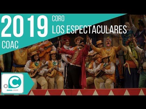 La agrupación Los espectaculares llega al COAC 2019 en la modalidad de Coros. En años anteriores (2018) concursaron en el Teatro Falla como Las mil y una historias, consiguiendo una clasificación en el concurso de Cuartos de final.