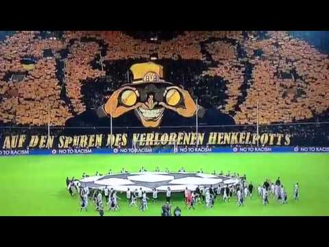 BEST TIFO in Champions League Borussia Dortmund Vs FC Malaga