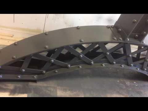 How to Make Train Bridge Build with Wood and Fabric Plastic Walls | Cinema Reels
