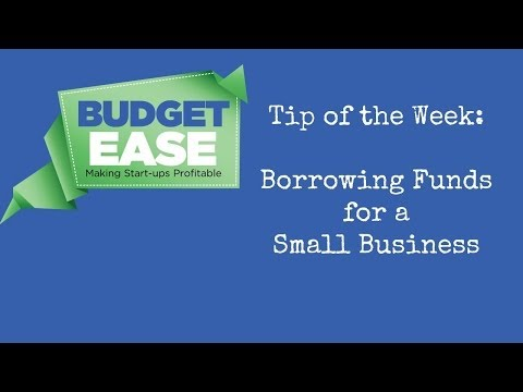 BudgetEase Tip: Borrowing Funds for a Small Business