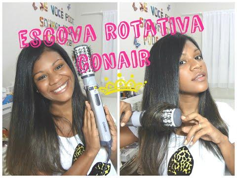 como usar escova rotativa conair- Natalia Souza