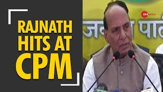 Left is mentally bankrupt: Rajnath Singh hits out after S Ramachandran Pillai's RSS-Taliban analogy - ZEENEWS