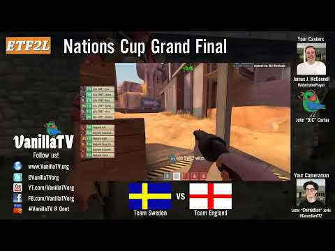 VanillaTV - England vs Sweden - ETF2L Nations Cup Grand Final - Gullywash [map3]