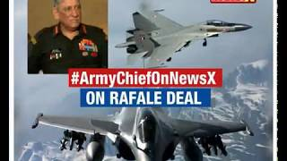 Army Chief Bipin Rawat speaks to NewsX over Rafale deal - NEWSXLIVE