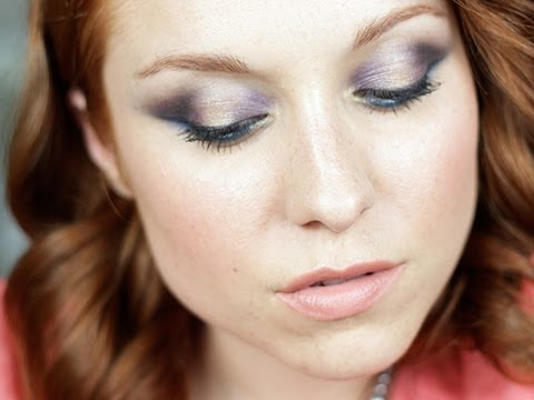 Tutoriel maquillage : bleu/violet