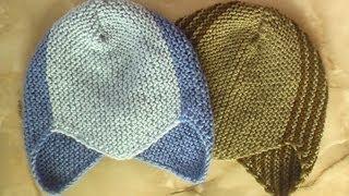 Спортивная шапочка. Вязание на спицах.