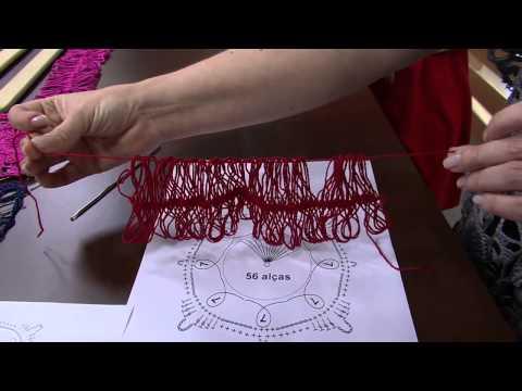Mulher.com 02/04/2014 Helen Mareth - Blusa em squares crochê de grampo Parte 1/2