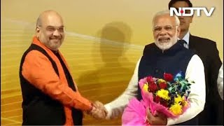 PM Modi, Amit Shah Join Celebrations At BJP HQ - NDTV