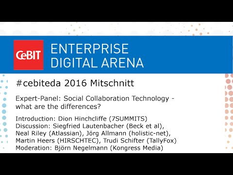 #cebiteda16: Social Collaboration Technology Panel