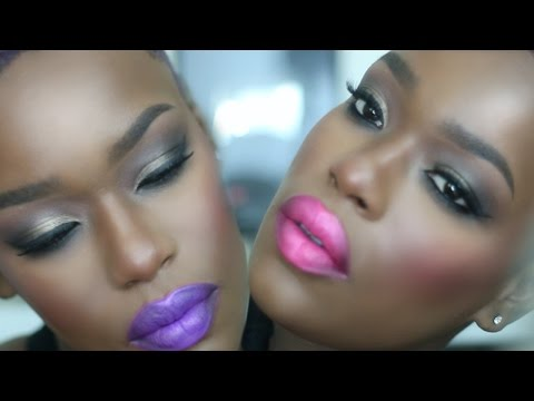 Hot Cocoa Candy kiss | Bright Holiday Makeup Dark Skin