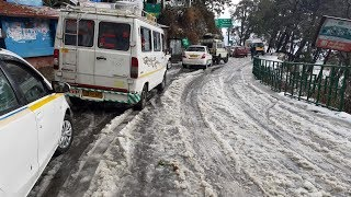 Heavy hailstorm brings life in Mussoorie to an abrupt halt - TIMESOFINDIACHANNEL