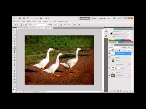 Create a perspective shadow for a pasted object in Photoshop CS5