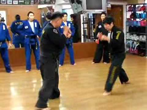 (51)strike sparring throw down Gongkwon Yusul(Korea jiu jitsu Hapkido)