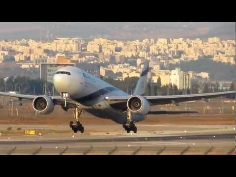 Powerful Takeoff El Al Airlines Boeing 777