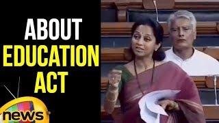 Supriya Sule Congress MP about  Right to Education Act | Lok Sabha Updates 2018 | Mango News - MANGONEWS