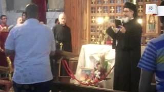 فيديو| أقباط المنيا يستقبلون رفات القديس شاربيل والقديسة رفقا بالزغاريد