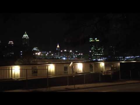 Atlanta Skyline & Norfolk Southern Train - January 2014