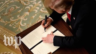 Trump signs executive order on campus free speech - WASHINGTONPOST