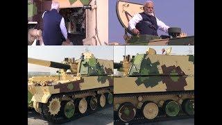 PM Narendra Modi checks out tanks in Gujarat's Hazira - TIMESOFINDIACHANNEL