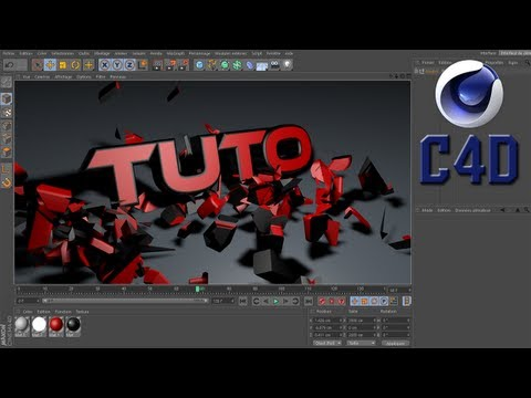 [Tuto][Fr] Cinema 4d /Super intro: text qui en EXPLOSE un autre [Hd]