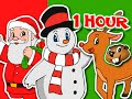 Merry Christmas Songs, Frosty, Santa, Rudolph, Jingle Bells & More   1 Hour Compilation Busy Beavers