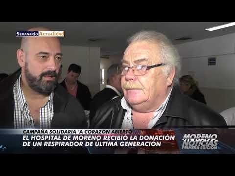 El hospital de Moreno recibió la donación de un respirador de última generación