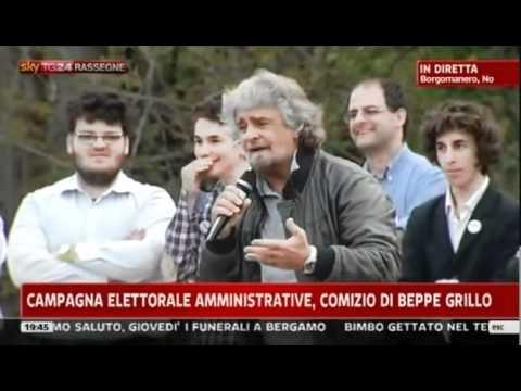 Beppe Grillo  a  Borgomanero  17.04.2012
