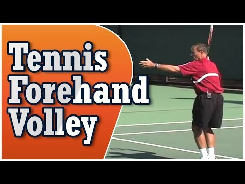 Tennis - Forehand Volley featuring Coach Dick Gould (17 NCAA Championships)