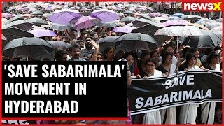 Sabarimala Showdown: 'Save Sabarimala' movement in Hyderabad - NEWSXLIVE