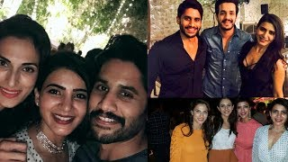 Samantha And Naga Chaitanya At Akhil's Birthday Bash Photos - RAJSHRITELUGU