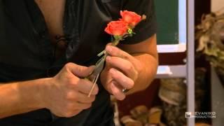 Уроки флористики Славы Роска: Свадебная бутоньерка