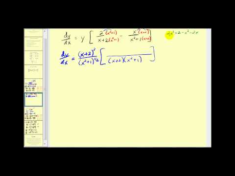 Logarithmic Differentiation -fjzLYYYTzTo
