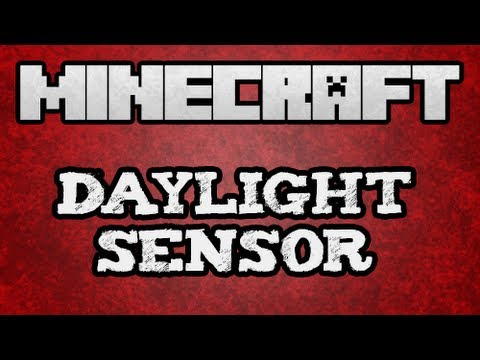 ★ Minecraft Tutorial - Redstone Daylight Sensor Tutorial  (13w01A) (w KestalKayden)
