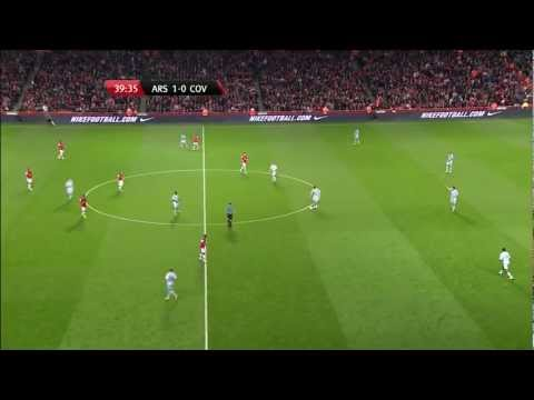 [FULL HD] Olivier Giroud GOAL!!! Arsenal vs Coventry City 1st half 26/9/2012