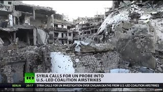 US-led airstrikes targeting ISIS kill dozens of civillians in Syria, Damascus calls for UN probe - RUSSIATODAY