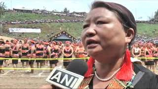 Apr 16, 2019: 5000 Konyak Naga Women Attempts to create World Record by dancing together - ANIINDIAFILE