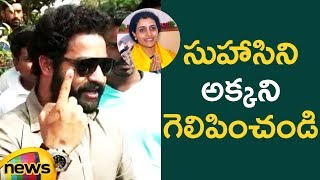 Jr NTR Speaks with Press after Casting Vote in Jubilee Hills | #TelanganaElections2018 | Mango News - MANGONEWS