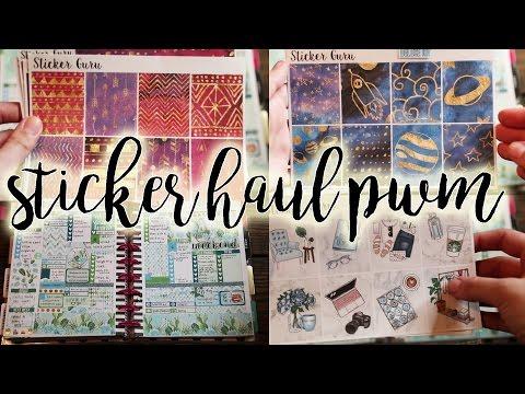 STICKER GURU HAUL & PWM   Happy Planner Stickers